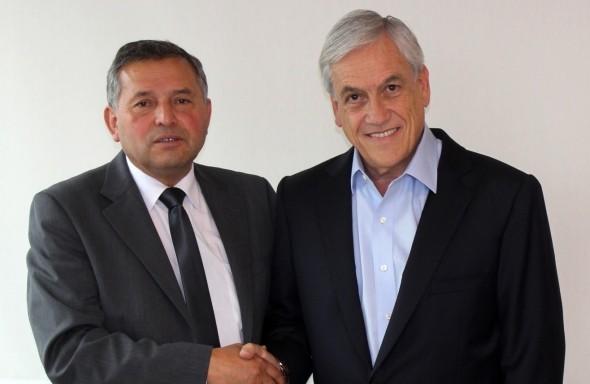 Roberto Recabal y Sebastián Piñera