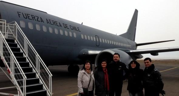 Gobernación de Coyhaique coordinó con Fuerza Aérea de Chile traslado de 150 estudiantes universitarios